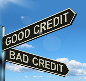 good credit bad credit sign